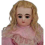 Very Lovely Antique Blonde Mohair Wig