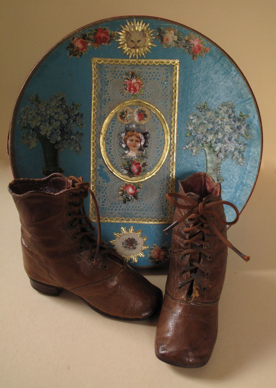 Fabulous 19th Century Children's High Top Boots for Large Doll or Display