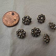 Very Elegant 19thc. Cut Metal Buttons for Antique Dolls