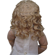 Lovely Antique Blonde Mohair Wig