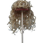 Wonderful Antique Blonde Mohair Wig