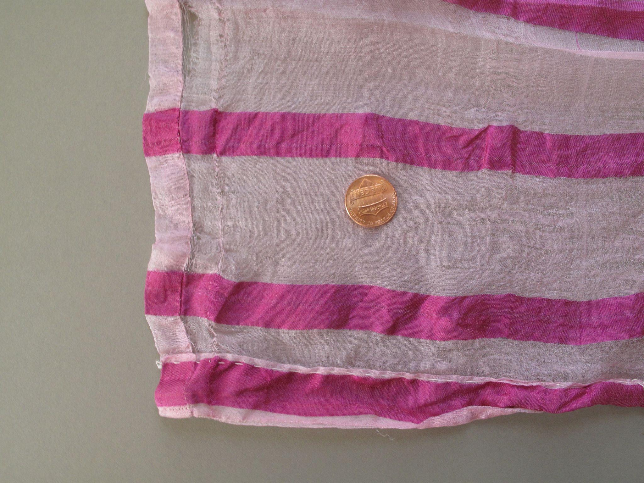 Just a Little Out of the Ordinary Too Fabulous Antique Fuchsia Striped Silk Fabric