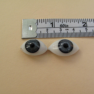 Antique German Glass Flat Back Doll Eyes
