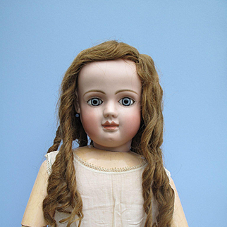 """VERY Hard to Find! Gorgeous LONG Human Hair Wig for Large Antique Doll 32"""" - 36"""""""