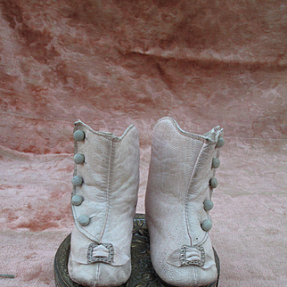 Lovely Faded Pink Leather Boots