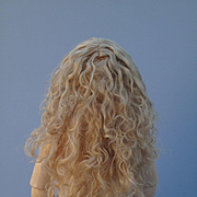 Antique Factory Issue Blonde Mohair Extended Length Wig