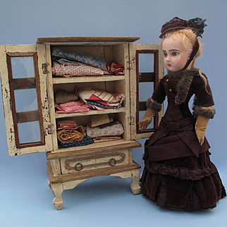 Sweet Vintage Armoire for Any Antique Doll