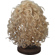 Antique Blonde Mohair Wig for Large Doll