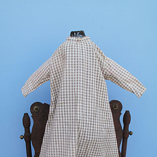 Authentic Mid 19th c. Plain Dress for Cloth, Paper Mache or China Doll