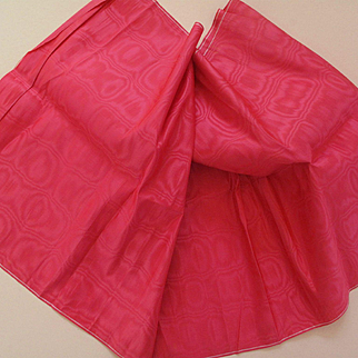 LOVELY! Antique Hot Pink Moire Silk Fabric!!