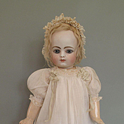 Totally Cute and Wonderful Antique White Frock and Bonnet