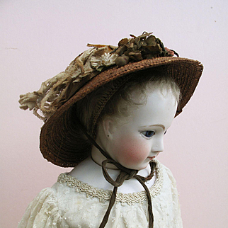 Rare Early Straw Fashion Hat