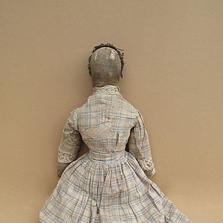19th Century Well Loved Cloth Doll