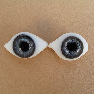 Lovely Large French Antique Blue Paperweight Eyes #2