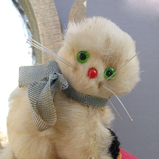 Precious Miniature Antique Kitten for Your Doll