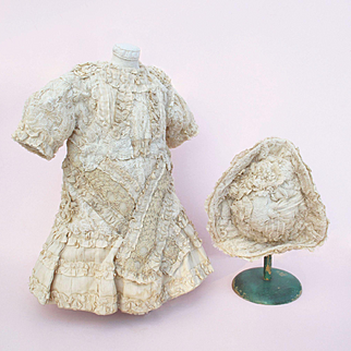 Lovely French Bebe Dress and Tricorn Hat