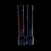 Pair Dark Ruby Argand Style Oil Lamp Chimneys