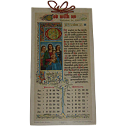 1910 Lovely Illuminated Manuscript Devotional Calendar