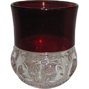 Early Ruby Thumbprint - Kings Crown Tumbler