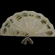 Small 1893 Ernest Nister Fan Calendar