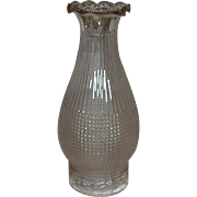 1896 Waffle pattern X-RAY Oil Lamp No. 2 Chimney