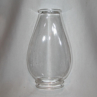 Oval Flat Sided Oil Lamp Chimney For Pinafore Burner - No. 1