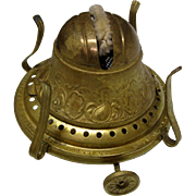 Fancy 1892  Bridgeport Brass No. 2 Oil Lamp Burner