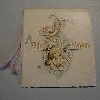 19th Century Child's Illustrated Poetry Book  Flight Into Fayland