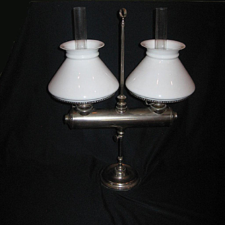 Spencer Double Student Oil Lamp by Manhattan Brass