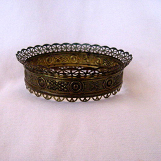 Small Ornate Hanging Oil Lamp Crown