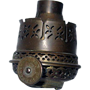 1870s Argand Style Oil Lamp Burner - The Brilliant