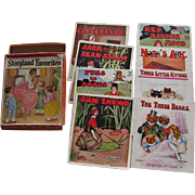 Boxed Set of Eight Old Children's Nursery Rhyme Books