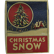 Box Full of c1940s Christmas Snow