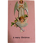 Pop-up Christmas Angels Post Card