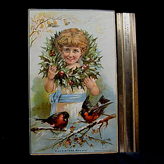 Large Christmas Trade Card or Poster Union Pacific Tea Co.