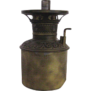 Little B&H Oil Lamp Brass Font