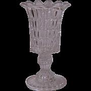 Early Flint Glass ARGUS Celery Vase