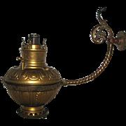 Bradley and Hubbard Wall Bracket Oil Lamp