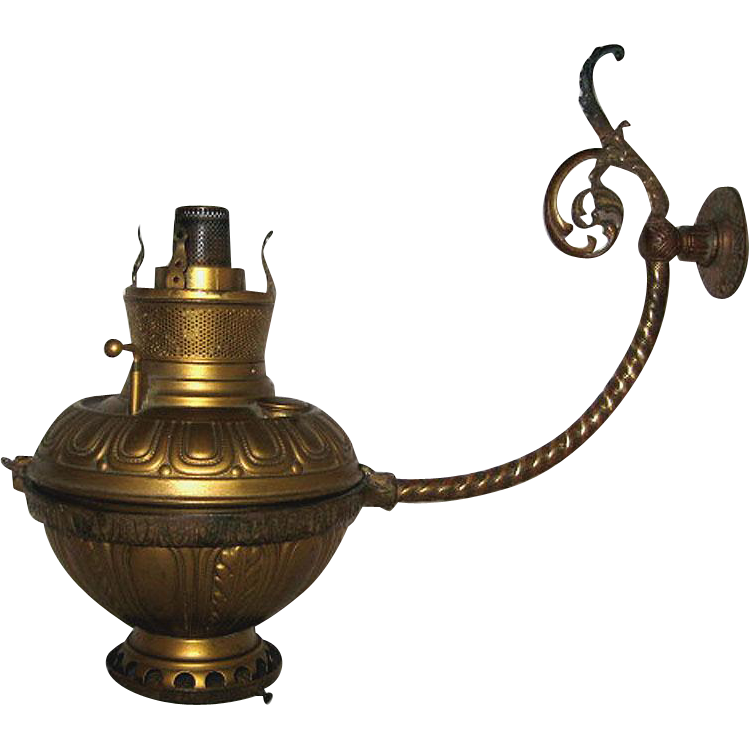 Bradley and Hubbard Wall Bracket Oil Lamp SOLD on Ruby Lane