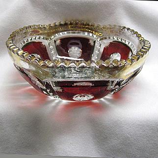 Ruby Stained Master Berry Bowl - Tarentum Peerless
