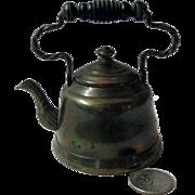 Miniature Salesman Sample or Child's Early Tea Kettle