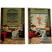 Comical trade cards - baby, nurse, shade roller