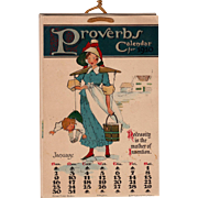 1910 Proverbs Calendar With Comical Illustrations