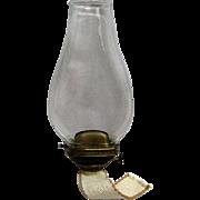 Rectangular Shape Oil Lamp Burner & Chimney - Leader