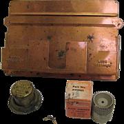 Copper plated Aladdin Lamp Match Holder
