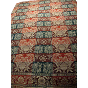 1844 Woven Coverlet - Houses - Birds