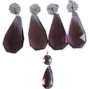 Large Pear Shape Amethyst Crystals or Prisms