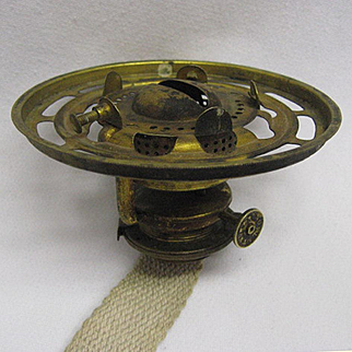 Novelty Oil Lamp Burner With Shade Ring