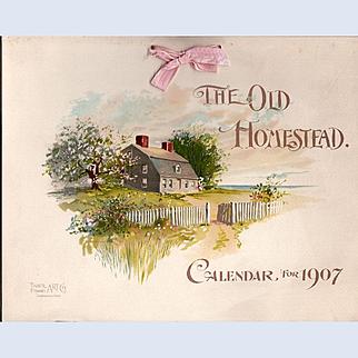 1907 Homestead Calendar - Taber Prang