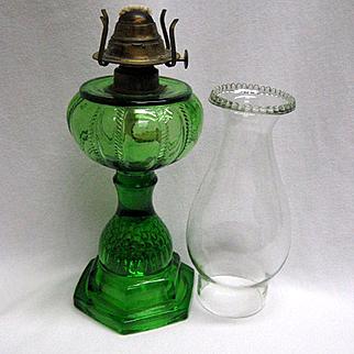 Emerald Green Victorian Oil Lamp